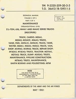 M35 m35a2 m35a3 series trk repair & parts manual m49 m49a1 m49a2.