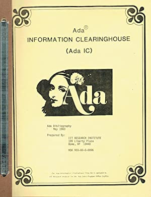 Ada INFORMATION CLEARINGHOUSE (Ada IC): Ada Bibliography, May 1983