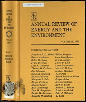 ANNUAL REVIEW OF ENERGY: VOLUME 18, 1993: Robert H. Socolow
