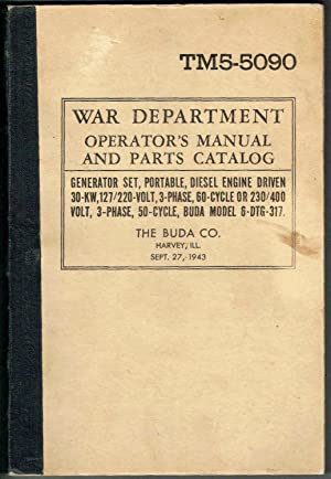 Tm6 first edition abebooks tm 5 5090 war department operators manual and the buda company fandeluxe Gallery