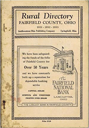 Rural Directory Fairfield County, Ohio 1931 - 1932 - 1933 (NO Map)