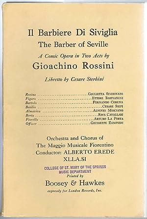 Il Barbiere Di Siviglia (The Barber of: Rossini, Gioachino; Sterbini,