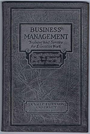 PRINCIPLES OF PROFITABLE MANAGEMENT, BUSINESS MANAGEMENT Executive Manuals 5 and 6: DIRECTING SAL...