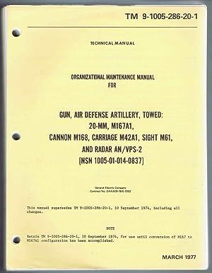TM 9-1005-286-20-1 (March 1977) ORGANIZATIONAL MAINTENANCE MANUAL FOR GUN, AIR DEFENSE ARTILLERY, ...