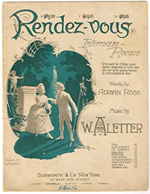 RENDEZ-VOUS: Intermezzo-Rococo, Piano Solo edition (NO LYRICS): Aletter, W. (music);