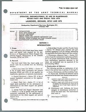 TM 9-1005-237-15P (June 1967) Operator, Organizational, DS,: Headquarters, Department of