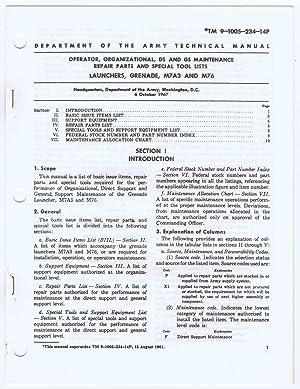 TM 9-1005-234-14P (October 1967) Operator, Organizational, DS,: Headquarters, Department of