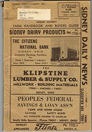 Shelby County, Ohio Business Directory, 1954 (No: Rural Directories, Inc.