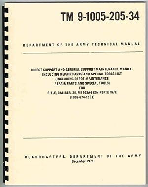 TM 9-1005-205-34 (REPRINT) (1971) RIFLE, CALIBER .30,: HEADQUARTERS, Department of