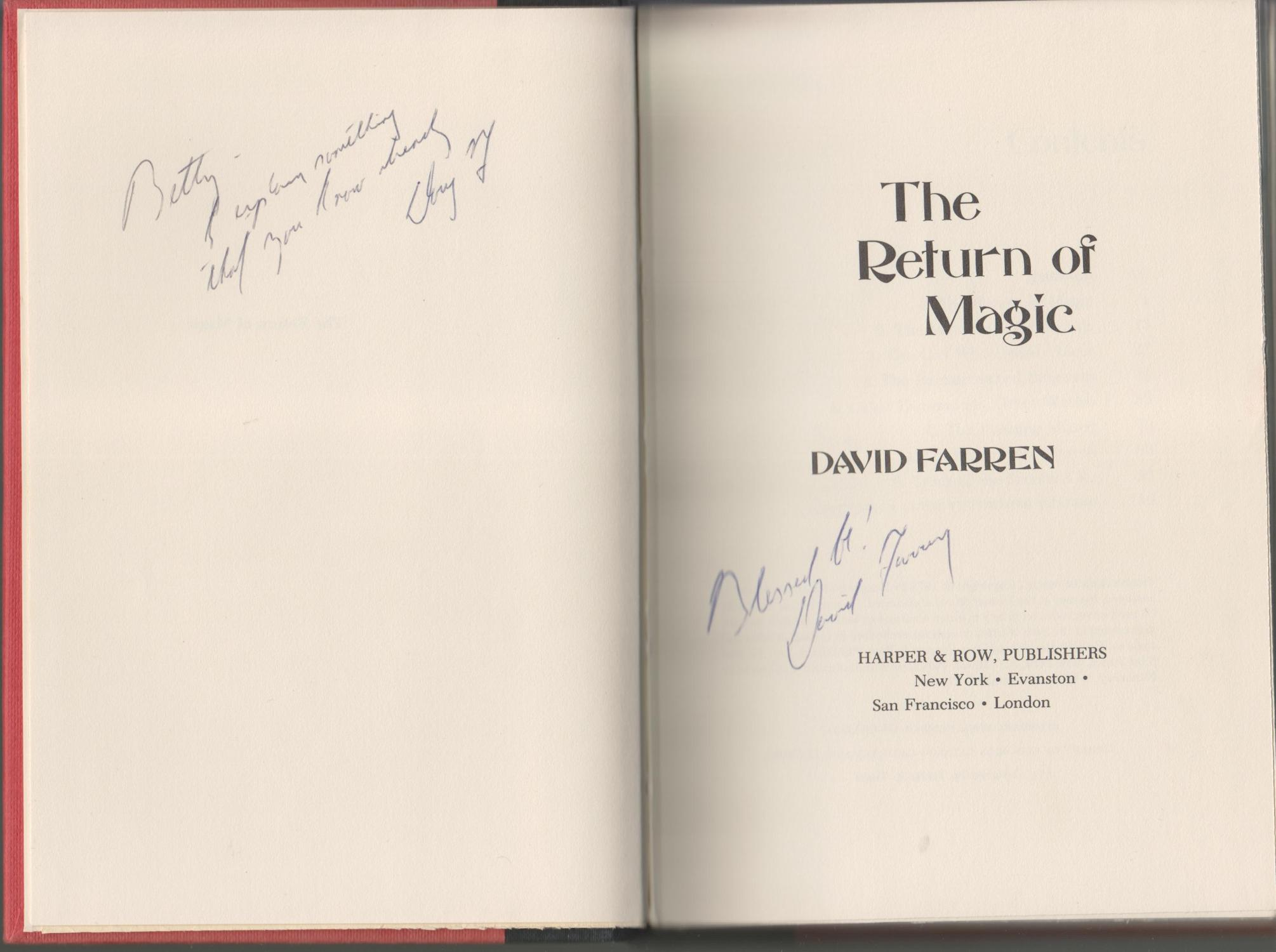 The Return Of Magic: Farren, David