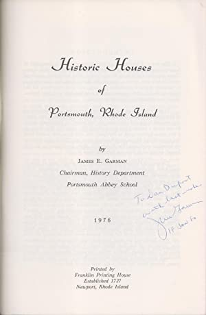 Historic Houses Of Portsmouth Rhode Island: James E. Garman