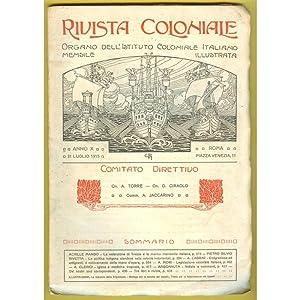 RIVISTA COLONIALE ITALIANA 1915 n. 7 la