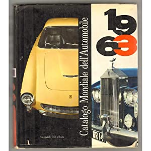 CATALOGO MONDIALE DELL'AUTOMOBILE 1963
