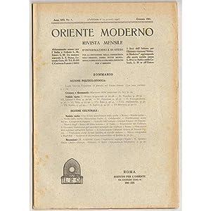 ORIENTE MODERNO 1941 01-12 + INDICE