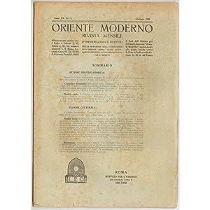 ORIENTE MODERNO 1940 01-12 + INDICE
