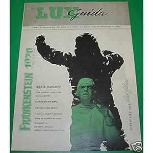 depliant FRANKENSTEIN 1970 Boris Karloff 1958 lux film