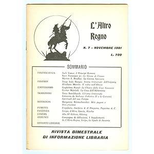 L'ALTRO REGNO 1981 n. 7