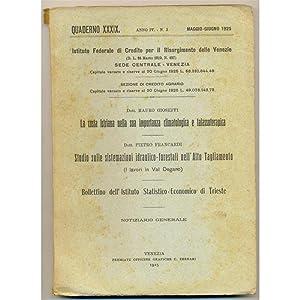 venezia QUADERNO 1925 n. 3 La costa istriana nella sua importanza climatologica