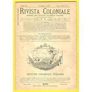 RIVISTA COLONIALE ITALIANA 1914 n. 3 Panama