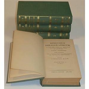 REPERTORIUM BIBLIOGRAFICUM: LUDOVICI HAIN