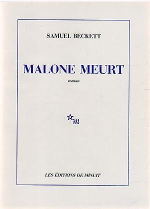 Malone meurt: BECKETT, Samuel