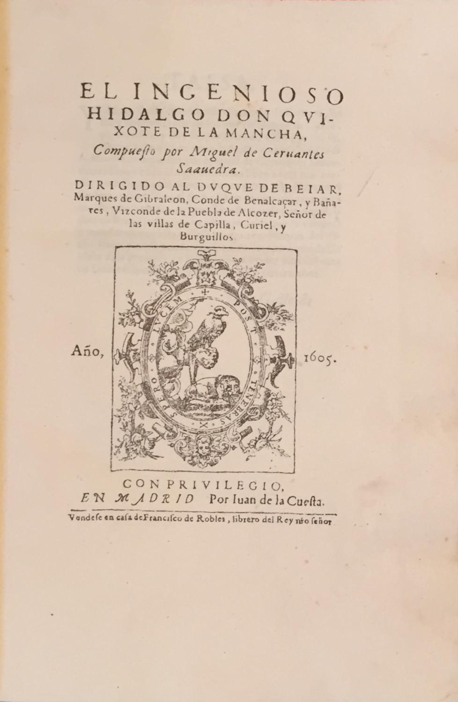 Facsímile de la primera (y segunda) parte de don Quijote de la Mancha. & Las 1.633 notas...