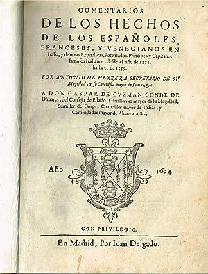Comentarios de los hechos de los españoles,: HERRERA Y TORDESILLAS,