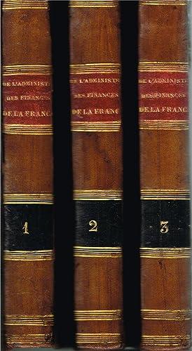 De l'administration des finances de la France: NECKER, Jacques