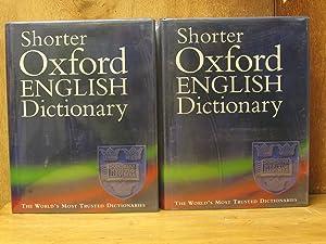 Shorter Oxford English Dictionary, on Historical Principles,