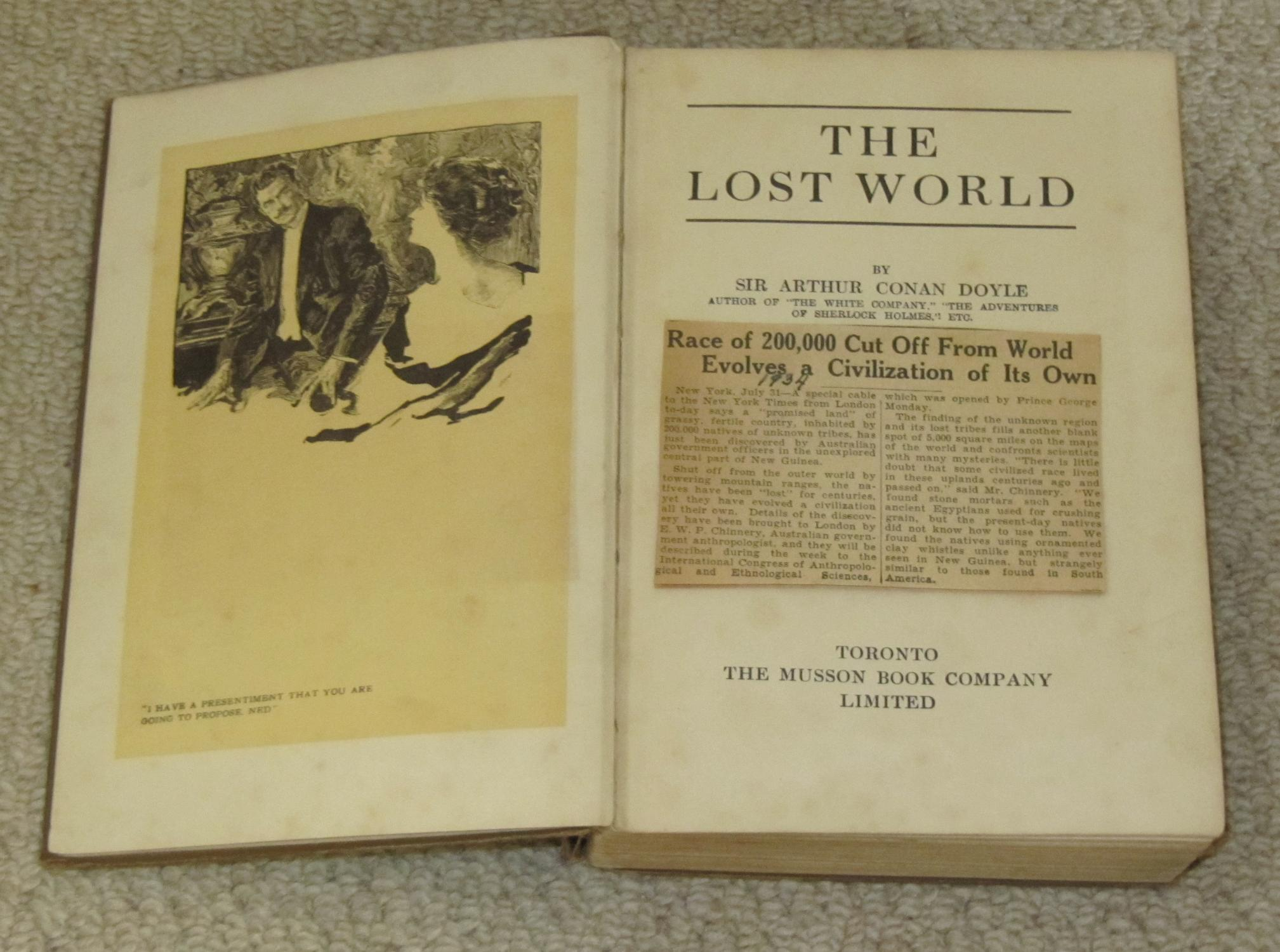 Lost World by Conan Doyle, First Edition - AbeBooks