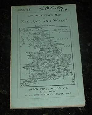 Bartholomew's Map of England & Wales: Sheet 27 - Swansea