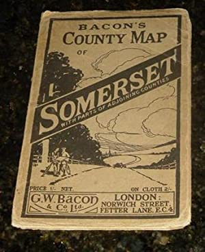 Bacon's County Map of Somerset With Parts of Adjoining Counties