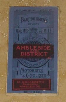 Bartholomew's Revised One Inch to Mile Ambleside and District for Motorists and Cyclists