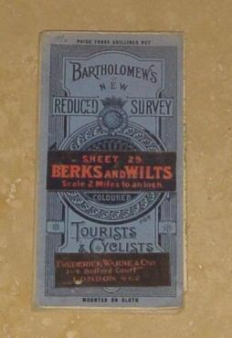 Bartholomew's New Reduced Survey for Tourists & Cyclists - Sheet 29. Berks and Wilts - Scale 2 Mi...