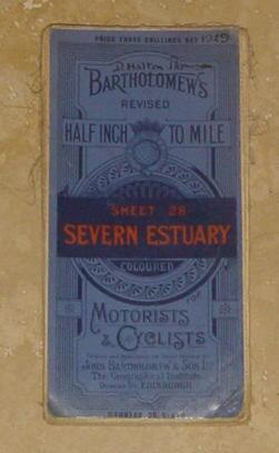 Bartholomew's Revised (Map) for Motorists & Cyclists - Sheet 28. Severn Estuary