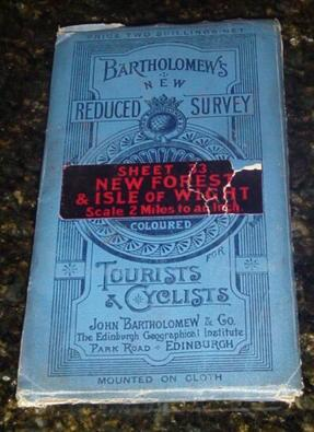 Bartholomew's New Reduced Survey for Tourists & Cyclists - Sheet 33: New Forest & Isle of Wight -...