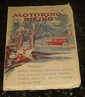 Motoring and Hiking Map - Section K - Including Bishop's Stortford, Chelmsford, Dorking, Eton, Gr...