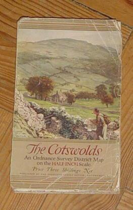 The Cotswolds : An Ordnance Survey District Map on the Half-Inch Scale