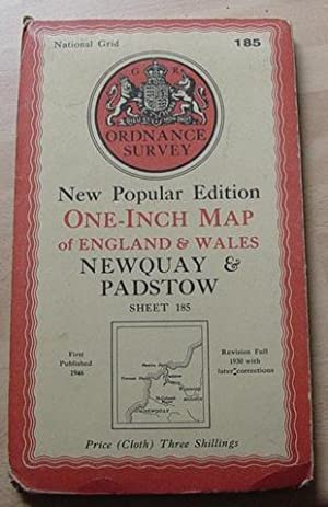 Newquay & Padstow - One Inch Map - Sheet 185