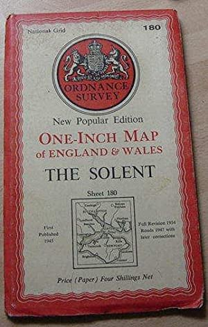 New Popular Edition One Inch Map of England & Wales - The Solent - Sheet 180