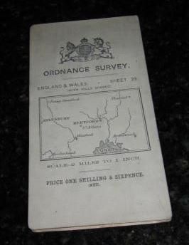 Ordnance Survey. England & Wales. - Sheet 29:(With Hills Shaded) - St.Albans. Scale - 2 Miles to ...