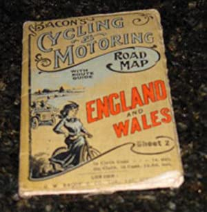 Bacon's Cycling & Motoring Road Map with Route Guide - England and Wales and South Part of Scotla...
