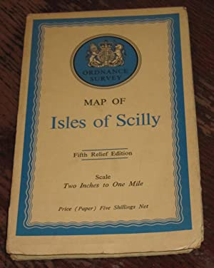 Ordnance Survey Map of Isles of Scilly - Special District (Relief) Map - Scale Two Inches to One ...