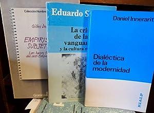 EMPIRISMO Y SUBJETIVIDAD Las bases filosóficas del anti-Edipo + LA CRISIS DE LAS VANGUARDIAS...