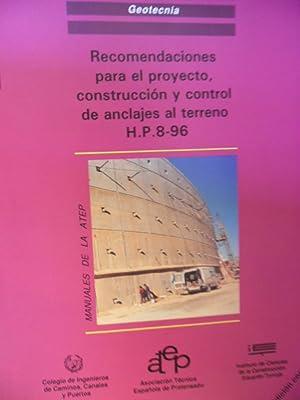 RECOMENDACIONES PARA EL PROYECTO, CONSTRUCCIÓN Y CONTROL DE ANCLAJES AL TERRENO H.P.8-96