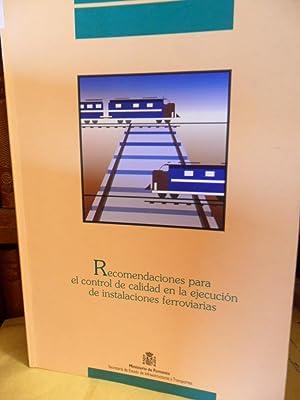 Serie Normativas - RECOMENDACIONES PARA EL CONTROL DE CALIDAD EN LA EJECUCIÓN DE ...