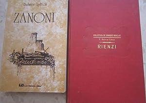 Zanoni . Novela ocultista original + Rienzi (2 libros): E. Bulwer Lytton