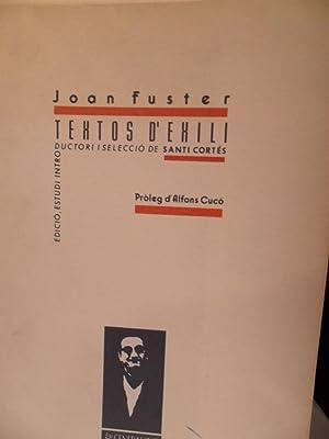 TEXTOS D'EXILI: JOAN FUSTER