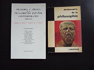 DICTIONNAIRE DE LA PHILOSOPHIE +FILOSOFÍA Y CIENCIA: DIDIER JULIA //
