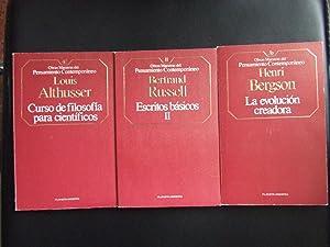 LA EVOLUCIÓN CREADORA + CURSO DE FILOSOFÍA: HENRI BERGSON //